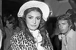 LOREDANA BERTE'<br /> FESTA PER I 30 ANNI DI HELMUT BERGER JACKIE O' ROMA 1974