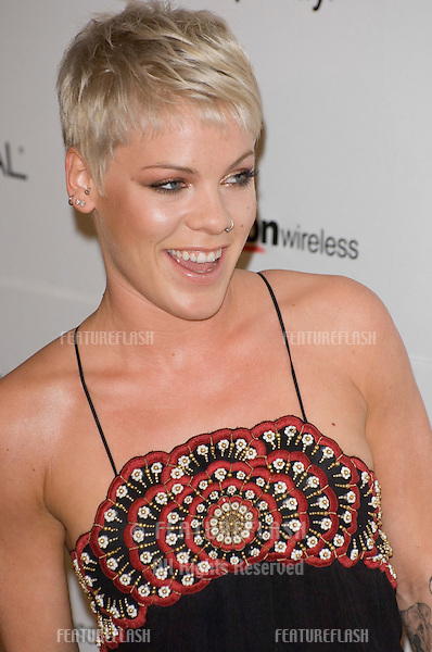PINK at the Clive Davis pre-Grammy Party at the Beverly Hilton Hotel..February 11, 2007  Beverly Hills, CA.Picture: Paul Smith / Featureflash