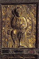Europe/France/Auverne/63/Puy-de-Dôme/Clermont-Ferrand: La cathédrale Notre-Dame (gothique) - La salle du trésor, détail de la chasse de Saint-Lomer qui provient de Moissat Bas