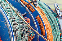 Fishing nets on back of fishing boat, Dingle Harbour, Dingle (An Daingean), Dingle Peninsula, County Kerry, Republic of Ireland