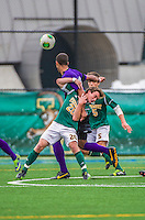 19 October 2013: University of Vermont Catamount Forward Shane Haley, a Freshman from Williston, VT, in action against the University at Albany Great Danes at Virtue Field in Burlington, Vermont. The Catamounts defeated the visiting Danes 2-1. Mandatory Credit: Ed Wolfstein Photo *** RAW (NEF) Image File Available ***