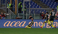 Calcio, Serie A: Lazio vs Milan. Roma, stadio Olimpico, 1 novembre 2015.<br /> AC Milan's Andrea Bertolacci, left, celebrates after scoring during the Italian Serie A football match between Lazio and Milan at Rome's Olympic stadium, 1 November 2015.<br /> UPDATE IMAGES PRESS/Isabella Bonotto