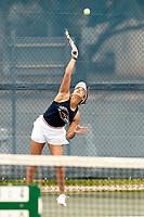 SAN ANTONIO, TX - FEBRUARY 15, 2020: The University of Texas Rio Grande Valley Vaqueros fall to the University of Texas at San Antonio Roadrunners 7-0 at the UTSA Tennis Center (Photo by Jeff Huehn).