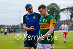 Tom O'Sullivan, Kerry, and Kerry Selector Tommy Griffin after the Allianz Football League Division 1 Semi-Final, between Tyrone and Kerry at Fitzgerald Stadium, Killarney, on Saturday.