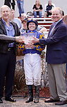 January 2010: James Graham and owner Jack T. Hammer react after winning the Lecomte Stakes at the Fairgrounds in New Orleans, La.