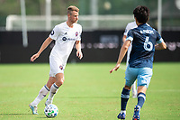 LAKE BUENA VISTA, FL - JULY 23: Robert Beric #27 of the Chicago Fire dribbles the ball during a game between Chicago Fire and Vancouver Whitecaps at Wide World of Sports on July 23, 2020 in Lake Buena Vista, Florida.