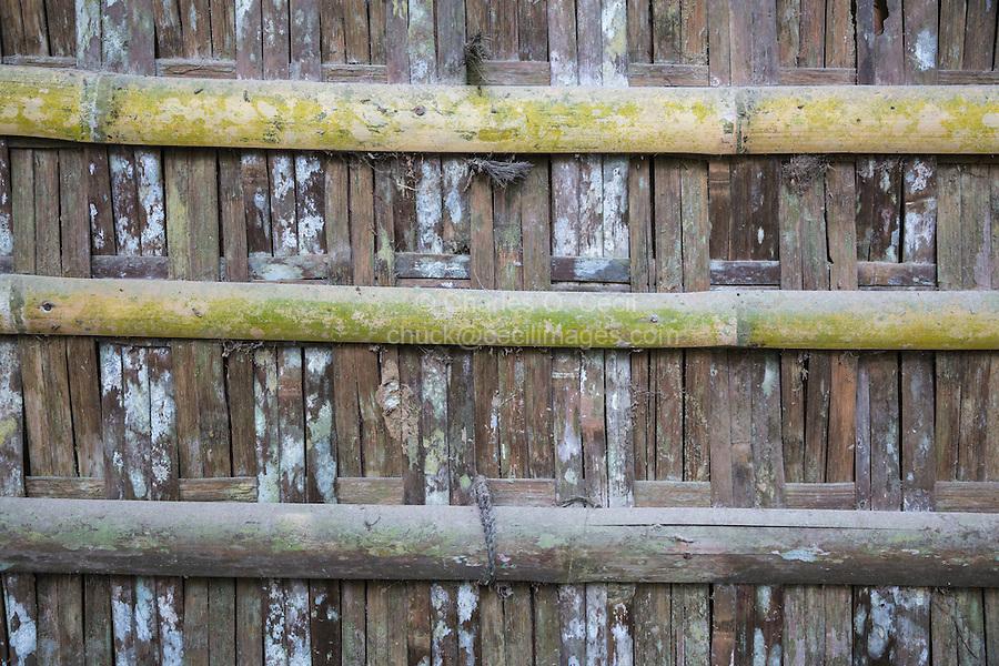 Borobudur, Java, Indonesia.  Rural House Construction: Woven Bamboo.
