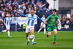 Martin Braithwaite of CD Leganes and Aritz Elustondo of Real Sociedad