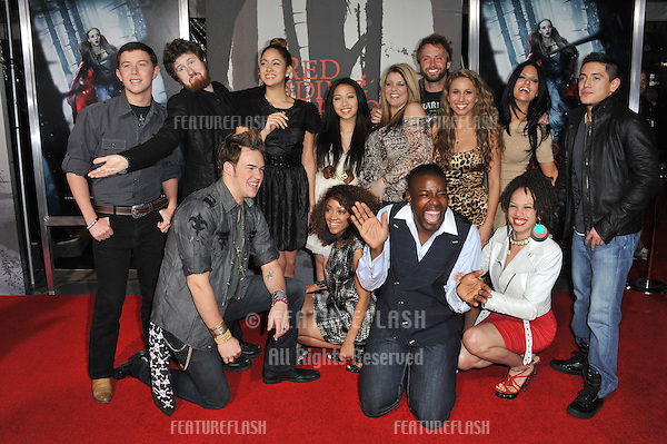 """American Idol Final 13 at the Los Angeles premiere of """"Red Riding Hood"""" at Grauman's Chinese Theatre, Hollywood..March 7, 2011  Los Angeles, CA.Picture: Paul Smith / Featureflash"""