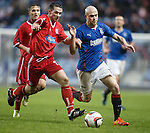 Nicky Law takes on Brechin's Craig Molloy