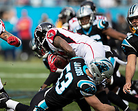 Charlotte, North Carolina - December 23, 2018: Bank of America Stadium.  The Carolina Panthers host the Atlanta Falcons.