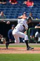 Louisville Cardinals outfielder Colin Lyman (35) at bat during a game against the Cal State Fullerton Titans on February 15, 2015 at Bright House Field in Clearwater, Florida.  Cal State Fullerton defeated Louisville 8-6.  (Mike Janes/Four Seam Images)