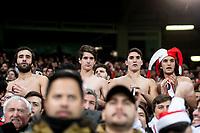 River Plate fans during  Commebol Final Match between River Plate and Boca Juniors at Santiago Bernabeu Stadium in Madrid, Spain. December 09, 2018. (ALTERPHOTOS/Borja B.Hojas) /NortePhoto.com