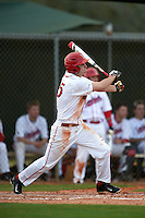 Ball State Cardinals outfielder Matt Eppers (35) during a game against the Maine Black Bears on March 3, 2015 at North Charlotte Regional Park in Port Charlotte, Florida.  Ball State defeated Maine 8-7.  (Mike Janes/Four Seam Images)
