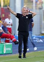 Trainer Mark Zimmermann gesture,     <br /> / Sport / Football / DFB Pokal 1.round 3. Bundesliga 2.Bundesliga /  2018/2019 / 19.08.2018 / FC CZ Jena vs. 1.FC Union Berlin / DFL regulations prohibit any use of photographs as image sequences and/or quasi-video. /<br />       <br />    <br />  *** Local Caption *** © pixathlon<br /> Contact: +49-40-22 63 02 60 , info@pixathlon.de