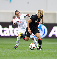 Lori Lindsey, Monica Ocampo. The USWNT defeated Mexico, 1-0, during the game at Red Bull Arena in Harrison, NJ.