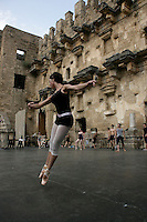 Dancer with The Royal Ballet of Covent Garden, London, on the stage of the open-air Aspendos amphitheatre in Antalya, Istanbul, Turkey