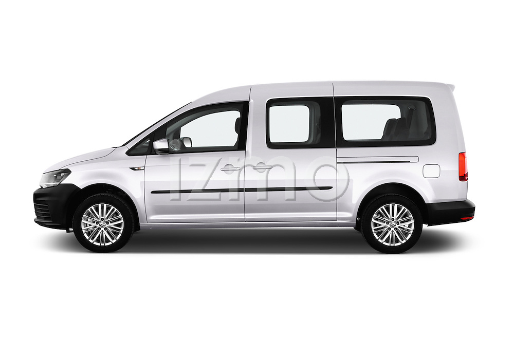 Car Driver side profile view of a 2015 Volkswagen Caddy Maxi Dark & Cool 5 Door Mini Mpv Side View