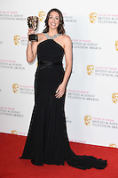 Suranne Jones<br /> in the winners room at the 2016 BAFTA TV Awards, Royal Festival Hall, London<br /> <br /> <br /> ©Ash Knotek  D3115 8/05/2016