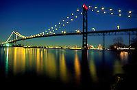 Ambassador Bridge connects Detroit, Michigan and Windsor, Ontario, Canada
