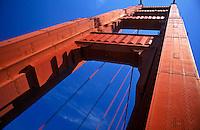 USA, California, San Francisco, Golden Gate Bridge, low angle view