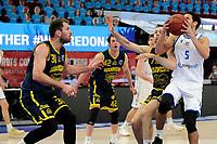 24-03-2021: Basketbal: Donar Groningen v Landstede Hammers: Groningen, Donar speler Leon Williams met Landstede speler Jozo Rados