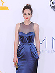 Michelle Dockery. at The 64th Anual Primetime Emmy Awards held at Nokia Theatre L.A. Live in Los Angeles, California on September  23,2012                                                                   Copyright 2012 Hollywood Press Agency