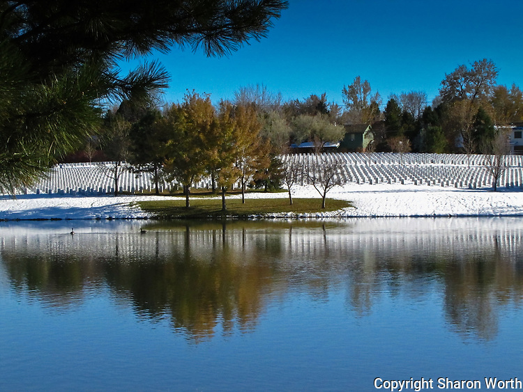 In the heart of the metro Denver area, graves at Fort Logan National Cemetery reflect, and invite reflection.