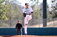 CARY, NC - FEBRUARY 23: Conor Larkin #25 of Penn State University pitches the ball during a game between Wagner and Penn State at Coleman Field at USA Baseball National Training Complex on February 23, 2020 in Cary, North Carolina.