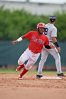 GCL Phillies West Jose Rivera (8) running the bases during a Gulf Coast League game against the GCL Tigers West on July 27, 2019 at the Carpenter Complex in Clearwater, Florida.  (Mike Janes/Four Seam Images)