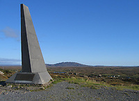 Pictured: The memorial by the landing site in County Galway<br />