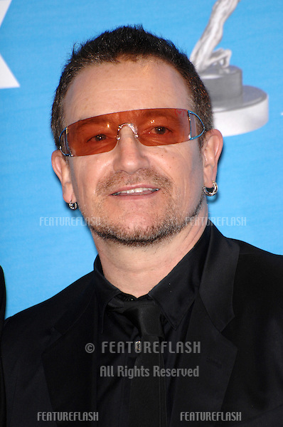 Bono at the 38th NAACP Image Awards at the Shrine Auditorium, Los Angeles. He was honoured with The Chairman's Award for his humanitarian work in Africa..March 3, 2007  Los Angeles, CA.Picture: Paul Smith / Featureflash