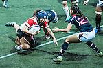 Seina Saito Japan Captain (l) in action during the Womens Rugby World Cup 2017 Qualifier match between Hong Kong and Japan on December 17, 2016 in Hong Kong, Hong Kong.Photo by Marcio Rodrigo Machado / Power Sport Images