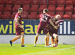 St Johnstone v Motherwell…15.12.18…   McDiarmid Park    SPFL<br />Tom Aldred celebrates his goal<br />Picture by Graeme Hart. <br />Copyright Perthshire Picture Agency<br />Tel: 01738 623350  Mobile: 07990 594431