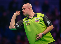 12th March 2020; M and S Bank Arena, Liverpool, Merseyside, England; Professional Darts Corporation, Unibet Premier League Liverpool; Michael van Gerwen during his night six match against Gerwyn Price