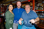 Enjoying the evening the in the Brogue Inn on Saturday, l to r: Amanda Drew, David Byrnes and Joe Connor from Tralee.