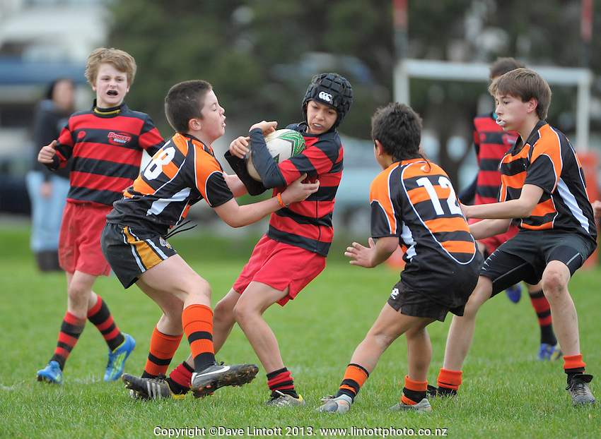 Wellington Age Grade Rugby - Poneke Under-12 v Rimutaka, 3 August 2013    Dave Lintott Photography