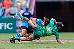 during the match between Ireland and Uruguay on April 7, 2018 in Hong Kong, Hong Kong. Photo by Marcio Rodrigo Machado / Power Sport Images