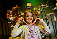 "Charlotte, NC on-location photography of Discovery Place, Charlotte's hands-on science museum located in downtown Charlotte NC. This image was taken in the museum's ""Project Build"" area."