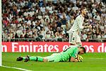 Atletico de Madrid's Jan Oblak during La Liga match between Real Madrid and Atletico de Madrid at Santiago Bernabeu Stadium in Madrid, Spain. September 29, 2018. (ALTERPHOTOS/A. Perez Meca)