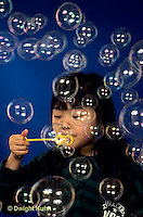 BH22-003x  Bubbles - girl making bubbles