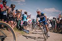 Philippe Gilbert (BEL/Quick Step floors) on pavé sector #2<br /> <br /> Stage 9: Arras Citadelle > Roubaix (154km)<br /> <br /> 105th Tour de France 2018<br /> ©kramon