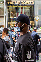 NEW YORK, NY - JULY 31: George Floyd's brother Terrence Floyd walks alongside the on 5 Av on July 31, 2020 in New York City. Since the murder of George Floyd by a Minneapolis police officer on May 25, millions of Americans have taken to the streets demanding more police accountability, reform and, in some cases, a lack of police funds. Many of the events took place next to the Trump Tower at 5 Av in Manhattan. (Photo by Pablo Monsalve / VIEWpress)