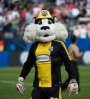 Columbus Crew mascot during MLS Cup 2008. Columbus Crew defeated the New York Red Bulls, 3-1, Sunday, November 23, 2008. Photo by John Todd/isiphotos.com