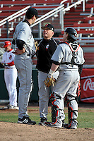 Cincinnati Bearcats headcoach Brian Cleary  during a game vs. St. John's Red Storm at Jack Kaiser Stadium in Queens, NY;  March 25, 2011.  St. John's defeated Cincinnati 3-2.  Photo By Tomasso DeRosa/Four Seam Images