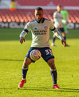 9th January 2021; City Ground, Nottinghamshire, Midlands, England; English FA Cup Football, Nottingham Forest versus Cardiff City; Junior Hoilett of Cardiff City controls the ball