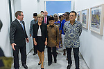 21 March 2016, Jakarta, Indonesia:  Australia's Foreign Minister Julie Bishop with  former Indonesian President BJ Habibi at the official proceedings at the opening of the new Australian Embassy in Jakarta. The function included traditional welcomes, dancing and speeches from Australian and Indonesian guests. Picture by  Graham Crouch/DFAT