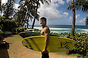 Hawaii Kamalei Alexander at the Quiksilver house on the Northshore of Hawaii.