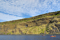 Kayakers, Kealakekua bay,The south Kona coast, The Big Island of Hawaii