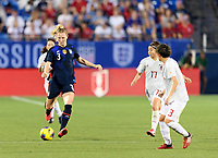 FRISCO, TX - MARCH 11: Samantha Mewis #3 of the United States passes the ball in the first half during a game between Japan and USWNT at Toyota Stadium on March 11, 2020 in Frisco, Texas.